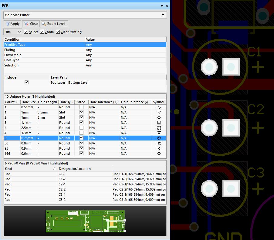 PCB - Hole Size Editor   Altium Designer 17 0 User Manual