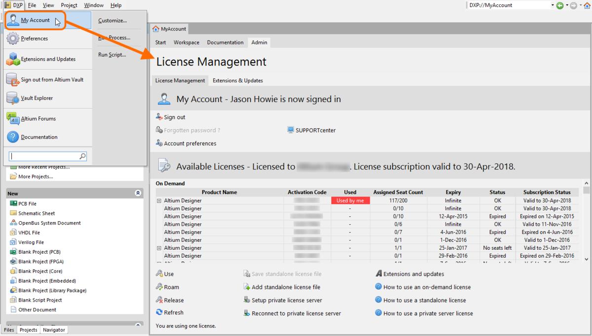 Altium Designer Licensing System | Altium Designer 17 0 User Manual