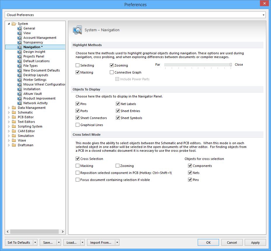 System - Navigation | Altium Designer 17 0 User Manual | Documentation