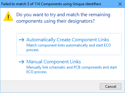 If there are UIDs present on either side without a matching UID on the other side, this dialog appears.