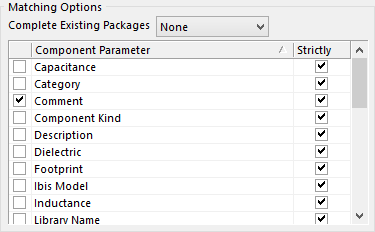 Matching components into multi-part packages.