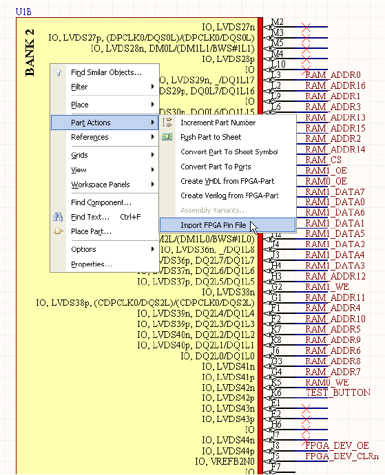 Import pin allocation directly from FPGA vendor pin files.