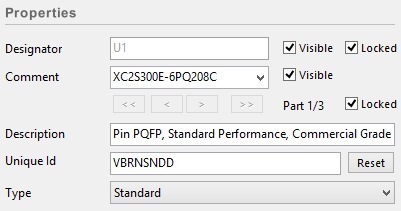 Locking parts to prevent packing changes. For non-homogeneous multi-part components,  check the Locked attribute to prevent sub-part changes during annotation.