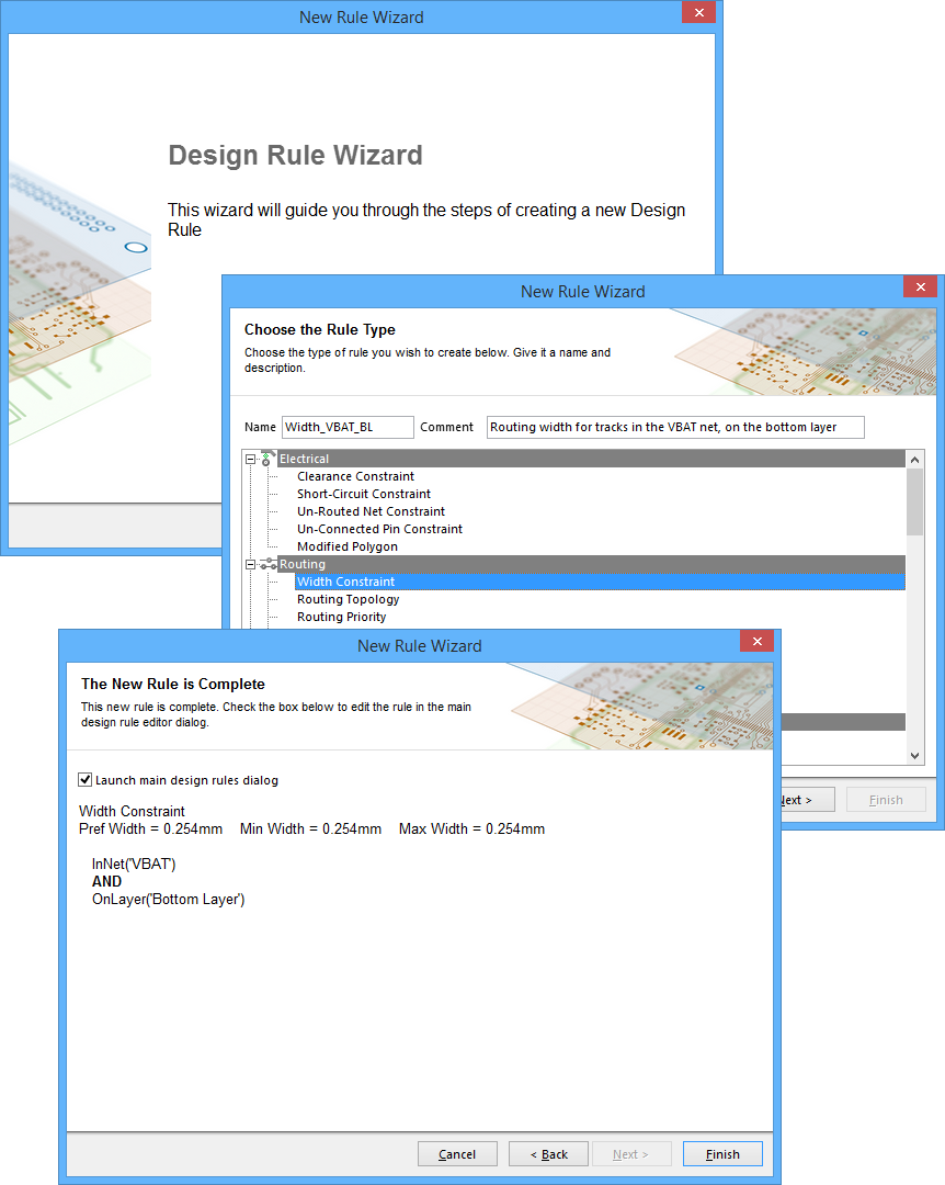 Constraining The Design Rules Online Documentation For Electrical Schematic Creator Use Rule Wizard To Streamline Creation