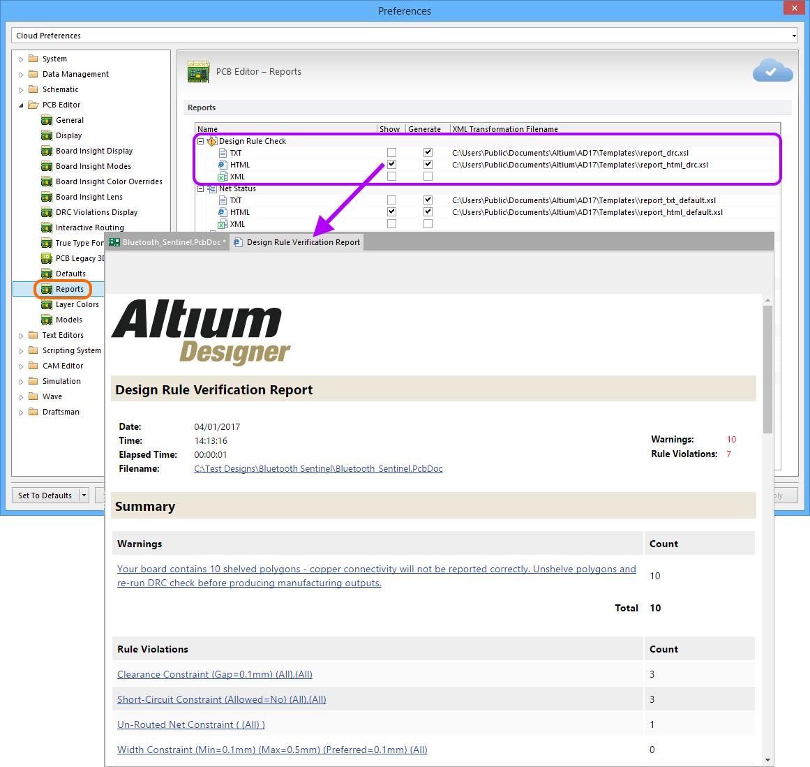 Design Rule Checking | Altium Designer 17 0 User Manual