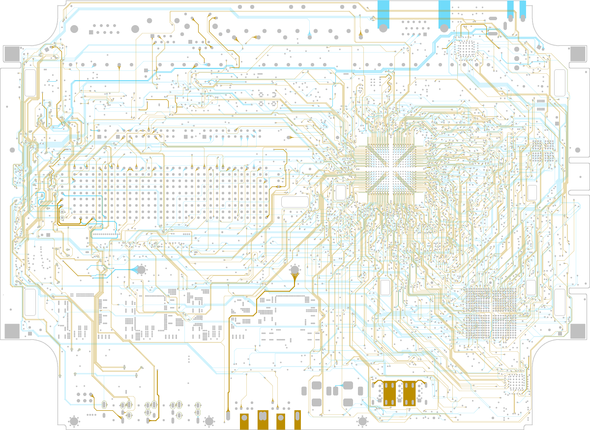 Topological Autorouting Online Documentation For Altium Products The Follow Photo Shows General Crossover Circuit Used In This Pcb 2 Of Internal Layers A Board That Has Been Topologically Autorouted
