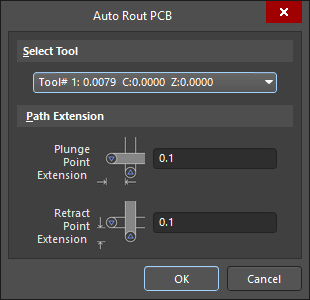 The Auto Rout PCB dialog