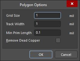 The Polygon Options dialog