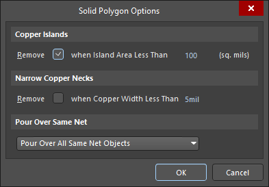 The Solid Polygon Options dialog