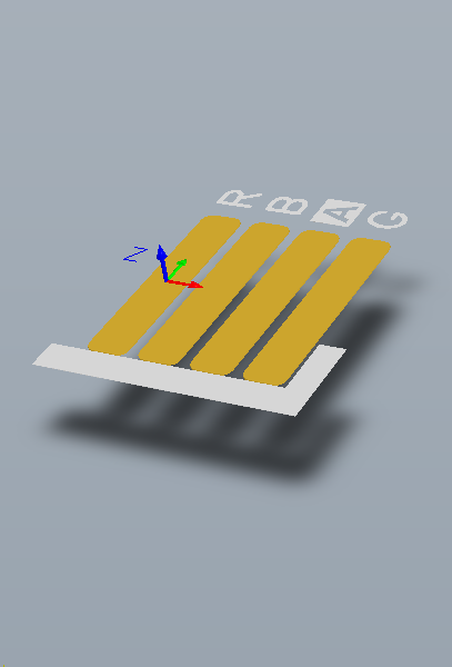 The footprint defines the space the component occupies, and provides the points of connection from the component pins/pads to the routing on the board.