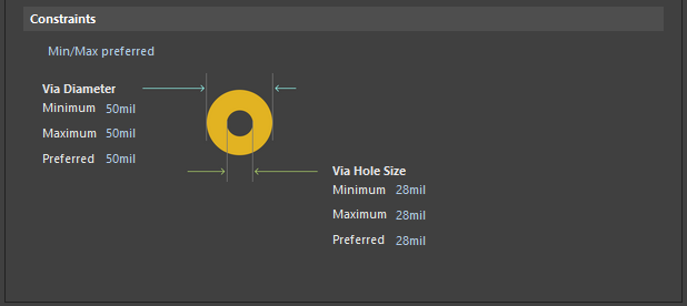 Routing Via Style | Altium Designer 18 0 User Manual