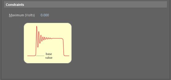 Default constraints for the Signal Base Valuerule.