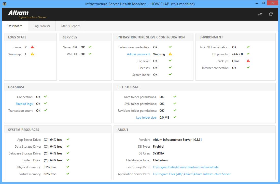 Infrastructure Server Health Monitor | Altium Designer 16 0