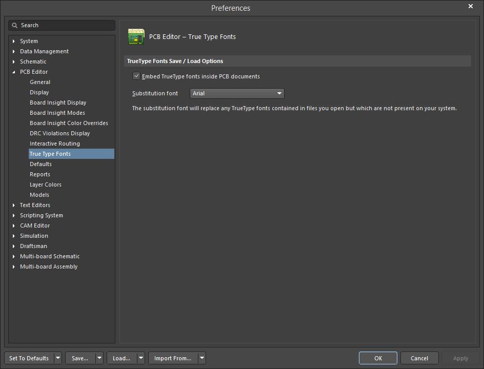 PCB Editor - True Type Fonts | Altium Designer 18 0 User
