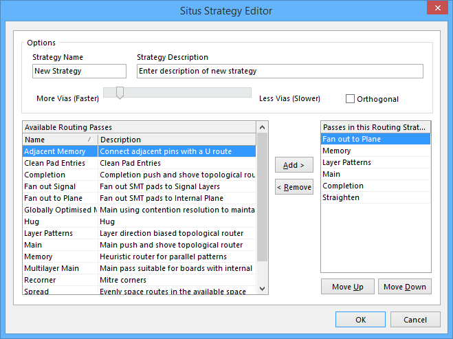 The Situs Strategy Editor dialog