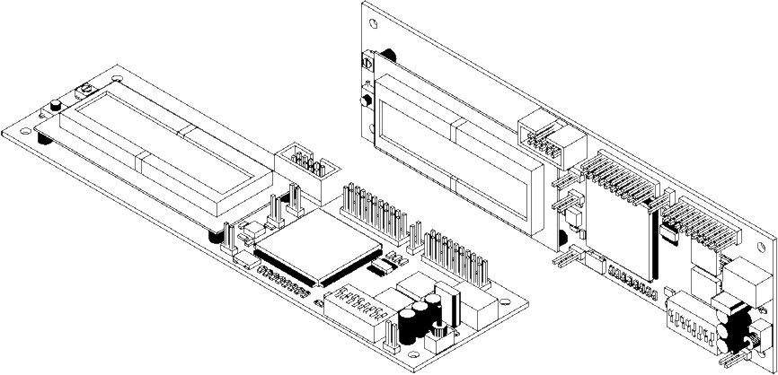 Two placed Board Isometric Views; afront face isometric view on the left, and a top face isometric view on the right. Set the face side view in the Properties panel.