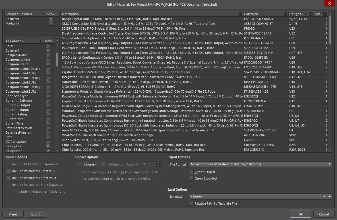 Bom Management With Activebom Online Documentation For Altium Products