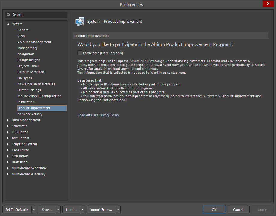 Installing Altium NEXUS | Altium NEXUS 1 0 User Manual