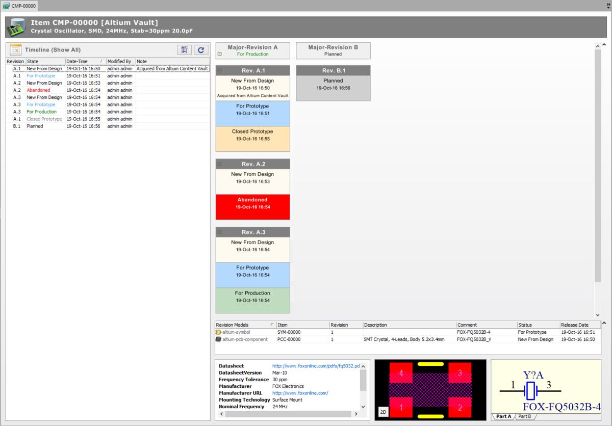 Vault Items | Altium Designer 17 1 User Manual | Documentation