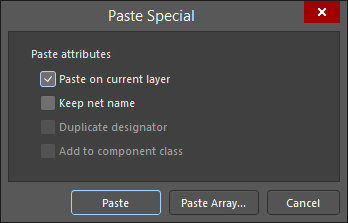 The Paste Special dialog