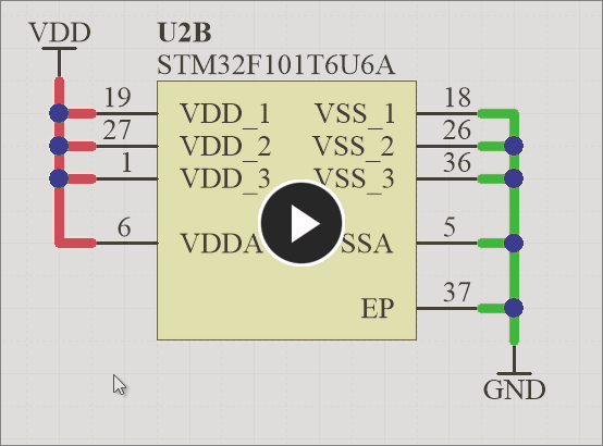 Smart Drag Selection in action on a schematic.
