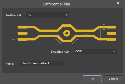 The Differential Pair dialog