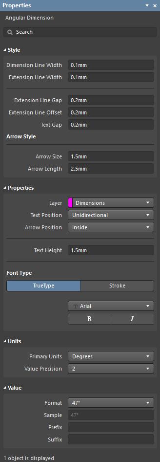 Angular Dimension | Altium Designer 18 0 User Manual | Documentation