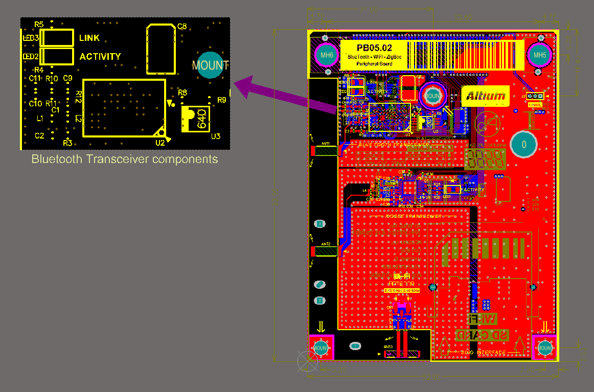 Design View Online Documentation For Altium Products Circuit Board Schematic Main Component Side