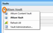 Top-level vault management controls