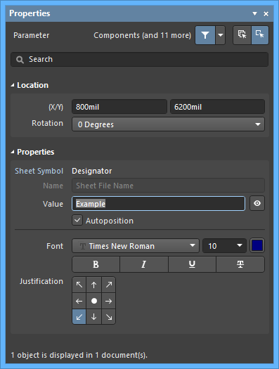 The Parameterdefault settings in thePreferencesdialog and theParametermode of the Properties panel