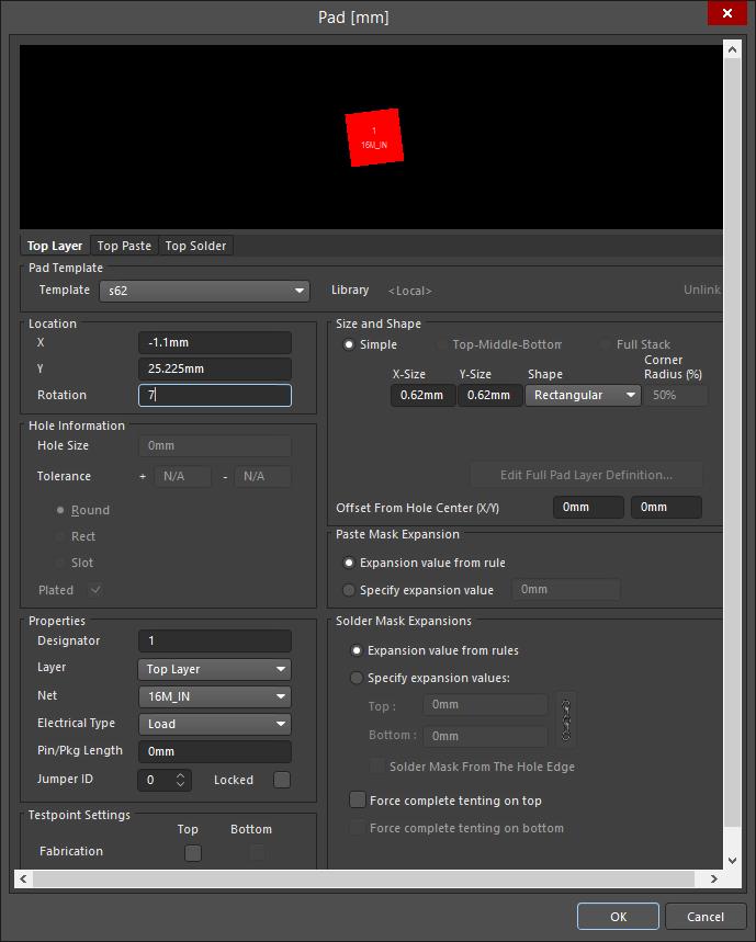 Pad | Altium NEXUS 1 0 User Manual | Documentation