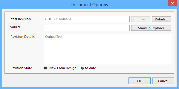 the document options dialog