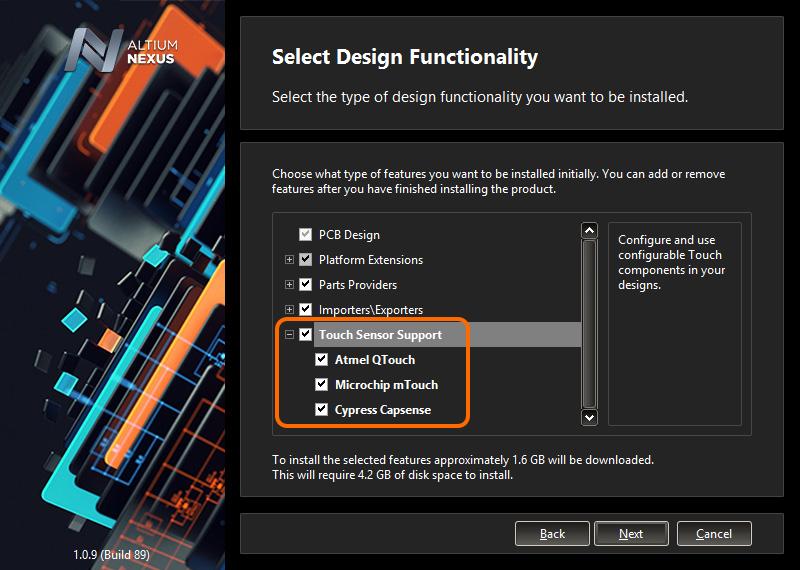Designing with Touch Controls | Altium NEXUS 1 0 User Manual