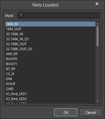 The Nets Loaded dialog