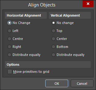 The Align Objects dialog