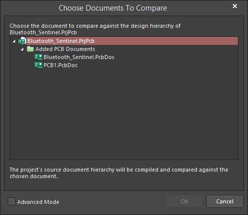 Choose Documents To Compare   Altium Designer 18 0 User