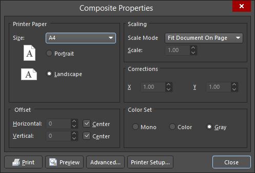 image relating to Printout Designer identify Web page Set up Altium Designer 18.0 Person Guidebook Documentation
