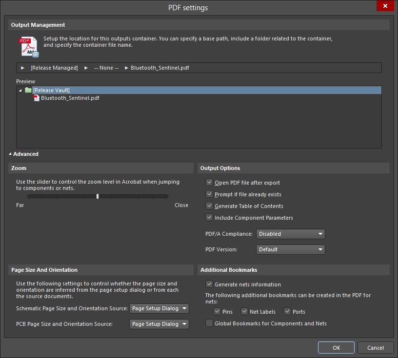 PDF Settings | Altium Designer 18 0 User Manual | Documentation
