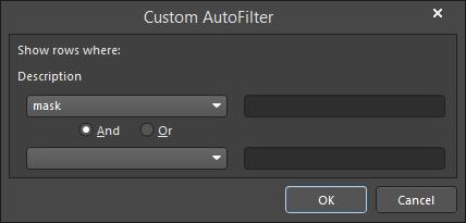 The Custom AutoFilter dialog