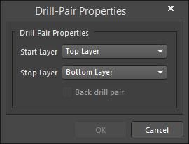 The Drill-Pair Properties dialog