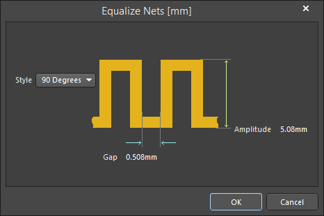 The Equalize Nets dialog