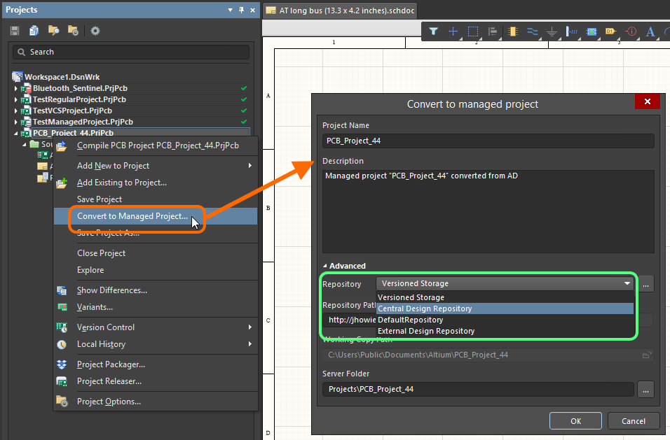 Working with a Design Repository | Altium Designer 18 0 User