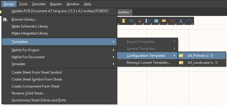 Managed Schematic Templates | Online Documentation for Altium Products