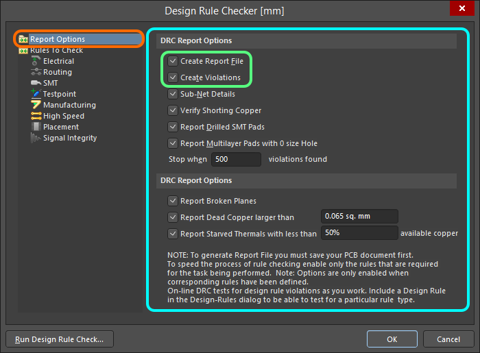 Design Rule Checking | Altium Designer 18 0 User Manual