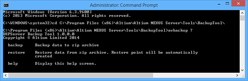 Backing up and Restoring Your Altium NEXUS Server   Altium NEXUS 1 0