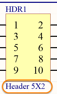 The Comment uniquely identifies each component in the design.