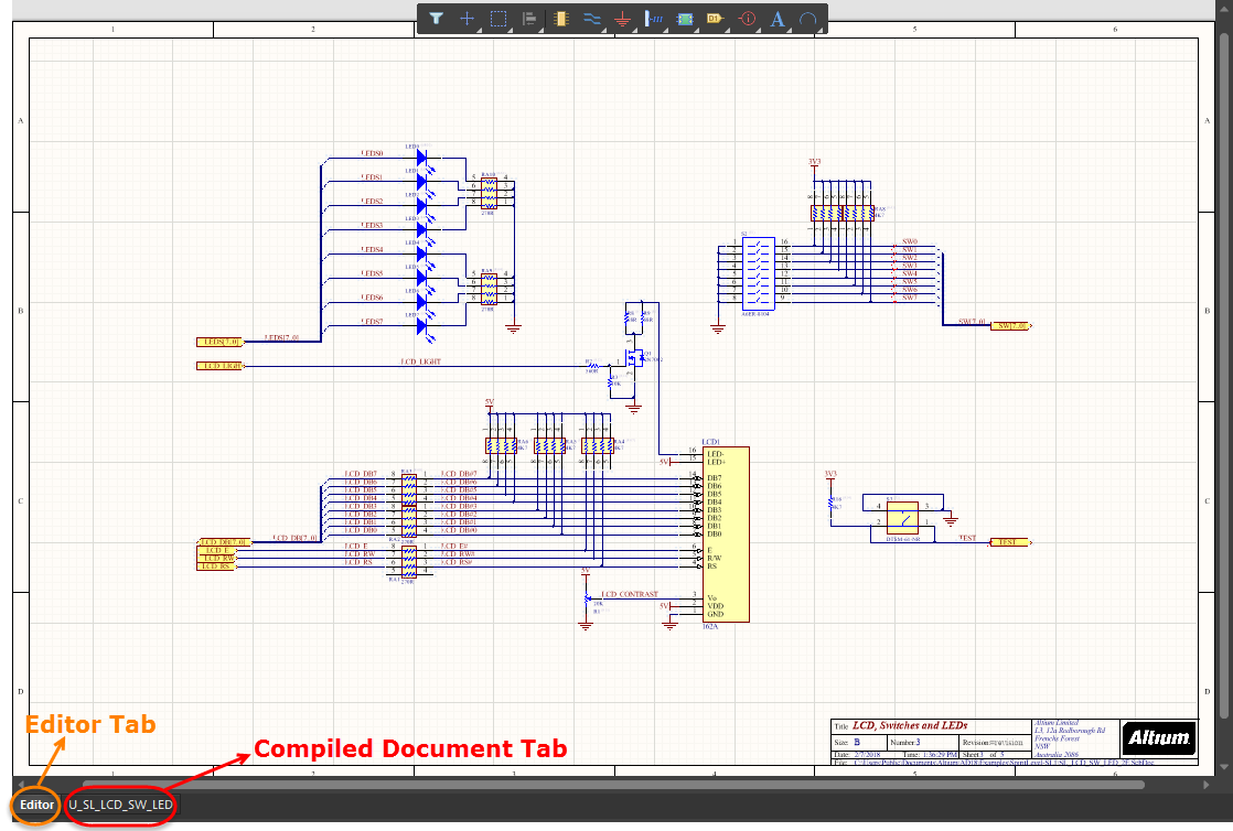 Annotating The Components Online Documentation For Altium Products How A Resistor Looks Resistors Are Shown On Schematics Examples Of Workspace Tabs