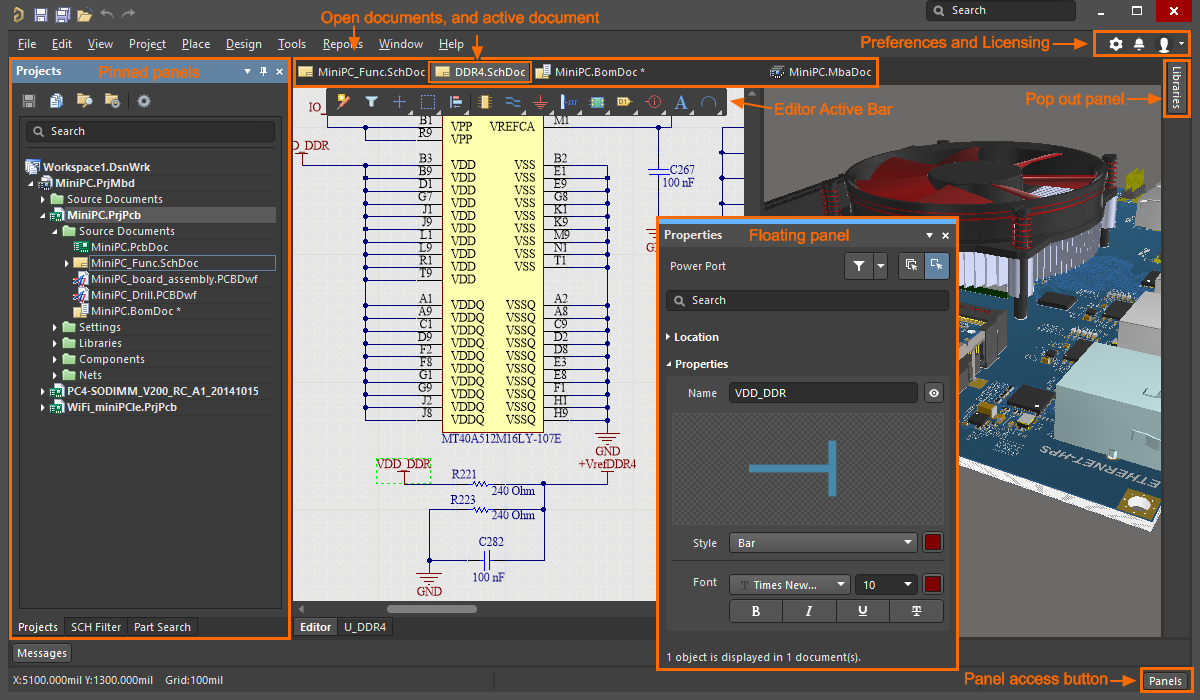 Exploring Altium Nexus Online Documentation For Products Design Software Which Allows You To Your Electronic Circuits On Each Editor Has Its Own Set Of Panels Menus Toolbars And Shortcut Keys Can Be Enabled Via The Buttons Down Bottom Right