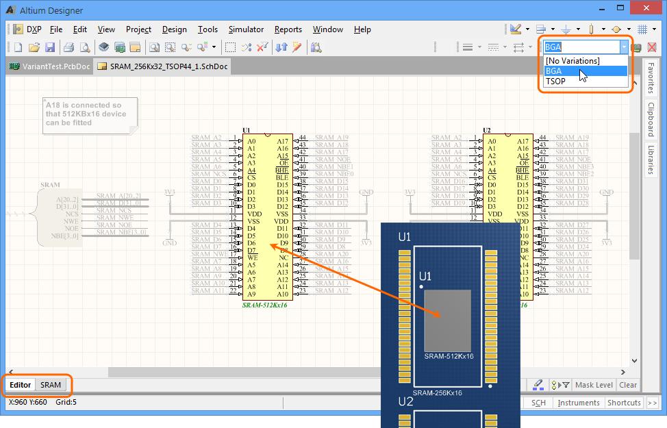 Design Variants | Online Documentation for Altium Products