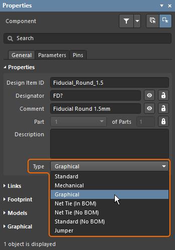 Для компонентов нестандартных типов задайте соответствующий тип.